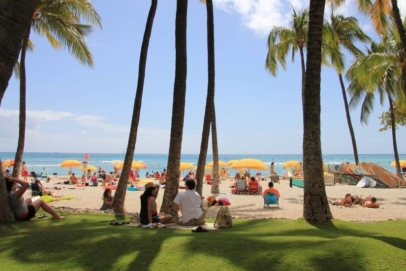 Waikiki Beach Hawaii wallpaper - 1281353