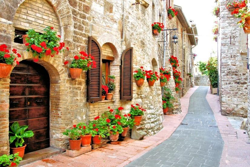 Street Wallpaper Of Beautiful Italy