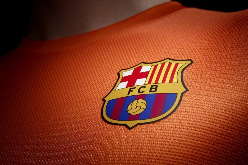Barcelona Wallpaper Logo Away jersey.