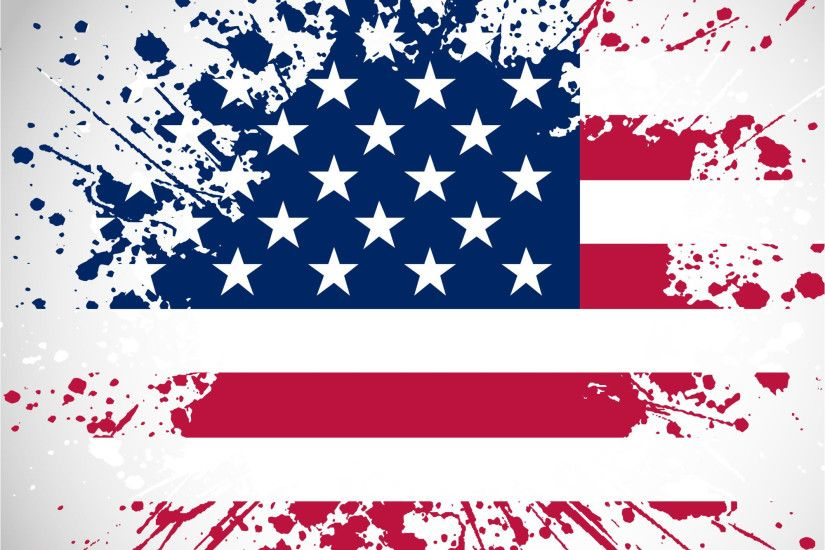 4th Of July American Independence day Paint vector background