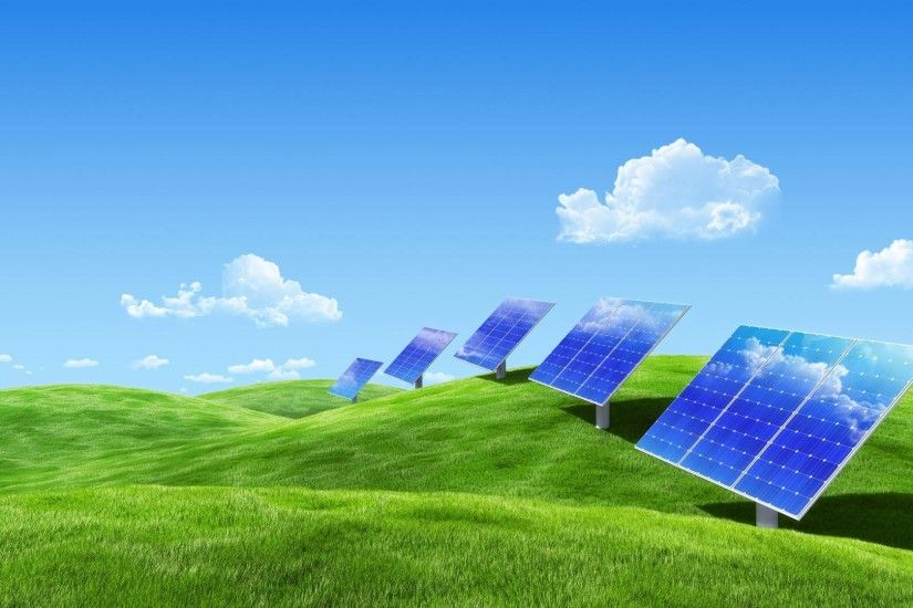 1920x1080 Green grassland scenic and solar energy for xp wide  wallpapers:1280x800,1440x900,