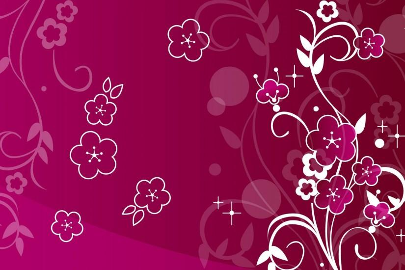 Wonderful Dark Pink Girly Wallpaper
