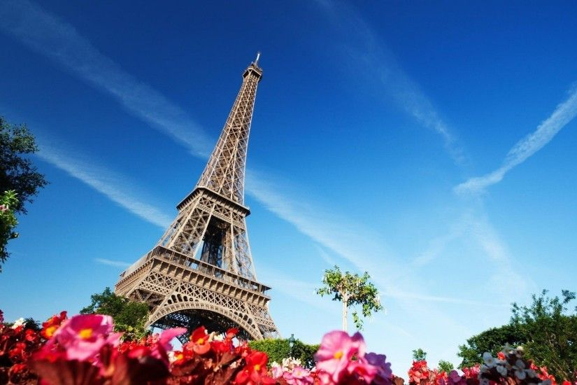 Eiffel Tower, Building, Architecture, Flowers, Paris, France Wallpapers HD  / Desktop and Mobile Backgrounds