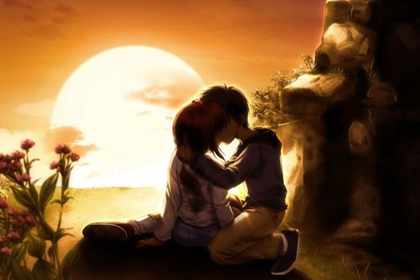 3d-love-couple-kiss-wallpaper
