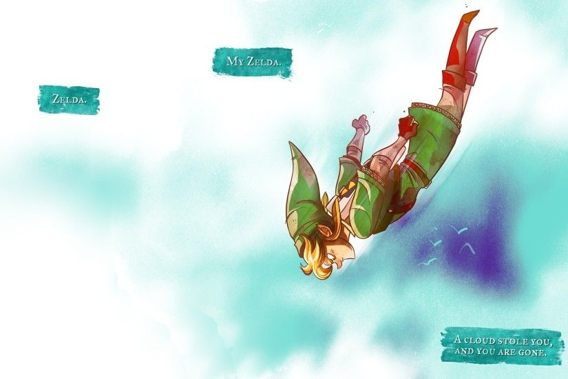 Preview wallpaper the legend of zelda, jump, elf, fly, link 2560x1440