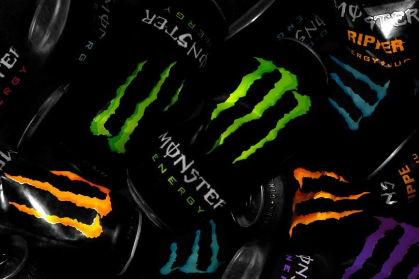 Many Monster Energy Tins Photo Picture HD Wallpaper Free | Monster .