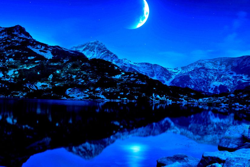 Beauty Landscape Wallpaper Beautiful Night Landscape Wallpaper .