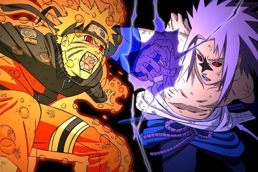 ... Naruto vs Sasuke HD Wallpaper 2560x1600