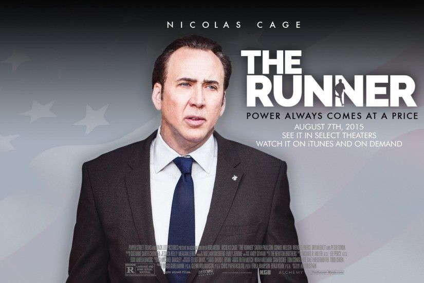 HD Background The Runner 2015 Nicolas Cage Movie Poster Wallpaper |  WallpapersByte