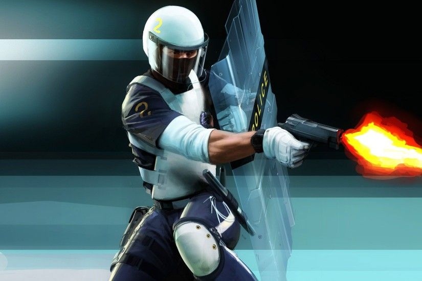 Mirrors Edge policeman wallpapers and images - wallpapers .