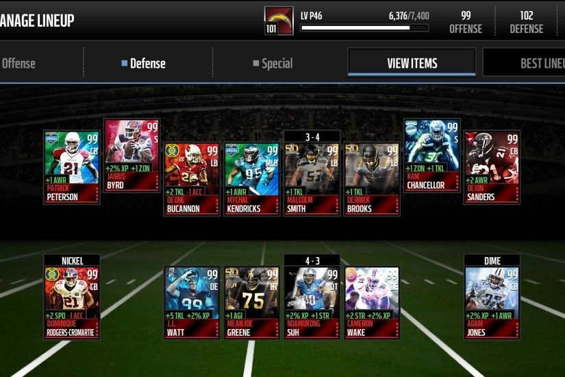 107 Defense - Madden NFL Mobile Discussion - Madden NFL Mobile - Madden NFL  18 Forums - Muthead