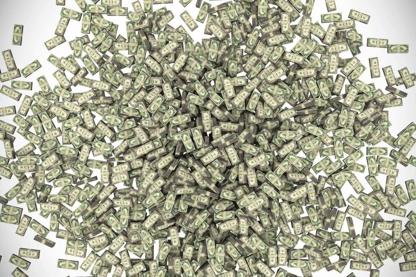 Money stacks bundles falling dollars financial win US USA American currency  tax Motion Background - VideoBlocks