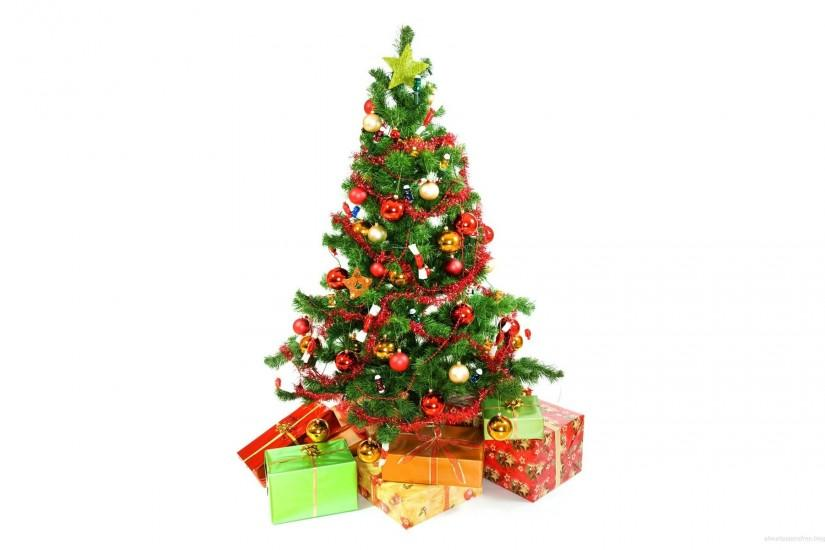 Christmas Tree White Background Wallpaper ...