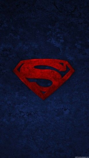 1080x1920 Superman logo iPhone 6 wallpapers HD - 6 Plus backgrounds
