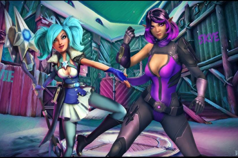 Paladins Skye and Evie wallpaper by FireFox4X