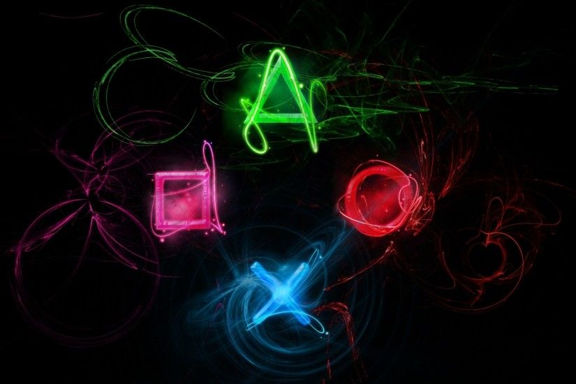 Preview wallpaper playstation, symbols, graphics 1920x1080