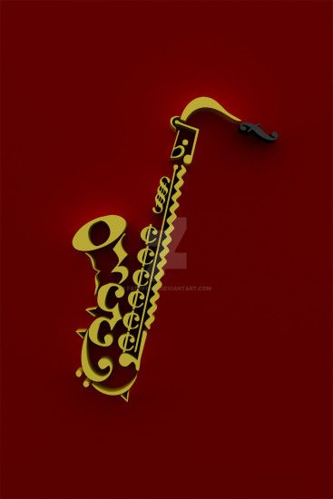 Saxophone Music Notation Wallpaper 3D by fashfish9 Saxophone Music Notation  Wallpaper 3D by fashfish9
