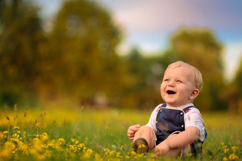 1920x1080 Wallpaper baby, boy, laugh, smile