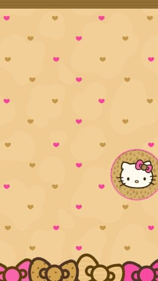 1242x2208 Hello Kitty Wallpaper, Screen Wallpaper, Phone Wallpapers, Phone  Themes, Pink Brown