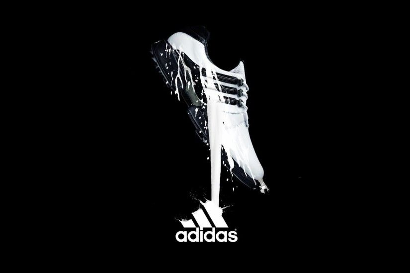 New HD Adidas Shoes With Logo Wallpaper