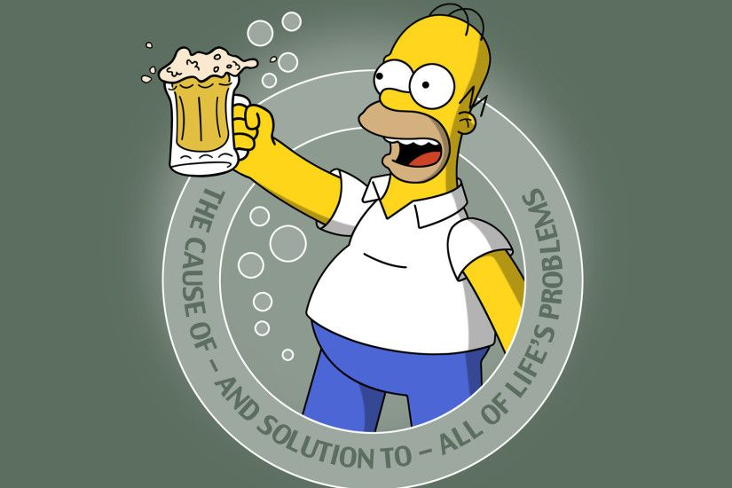 1920x1200 Homer Simpson Apple Wallpapers - Wallpaper Cave
