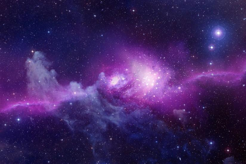 Purple Galaxy Background