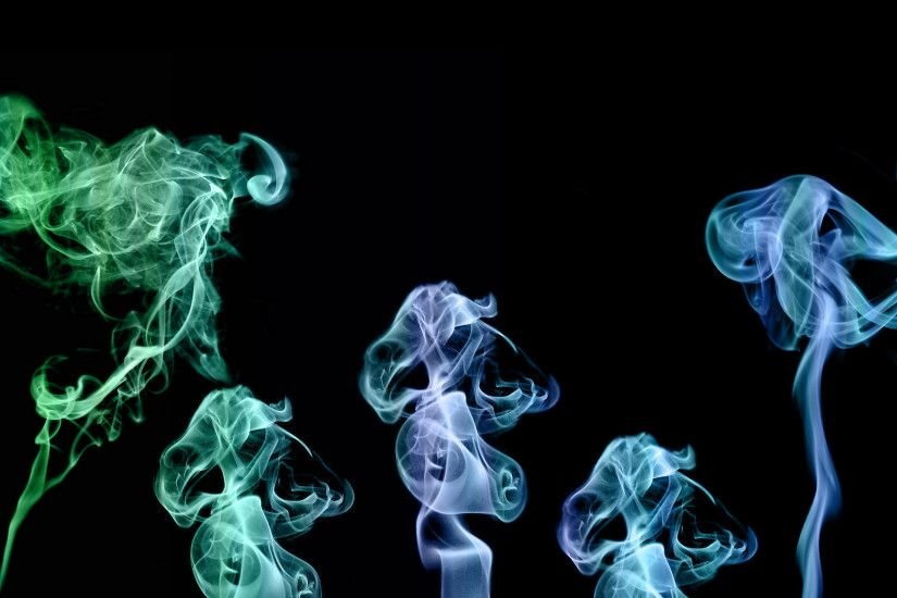 Just a large desktop sized colorful smoke rising image.