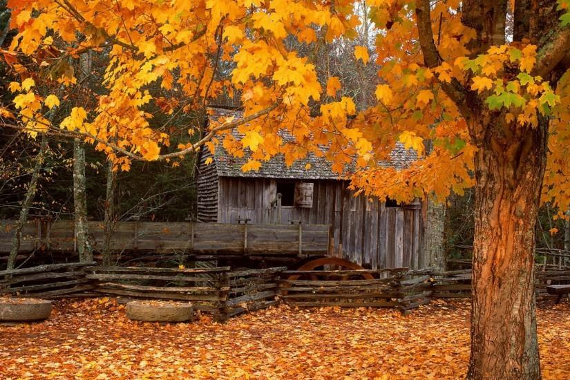 Autumn Cabin Wallpapers, Autumn Cabin Myspace Backgrounds, Autumn .