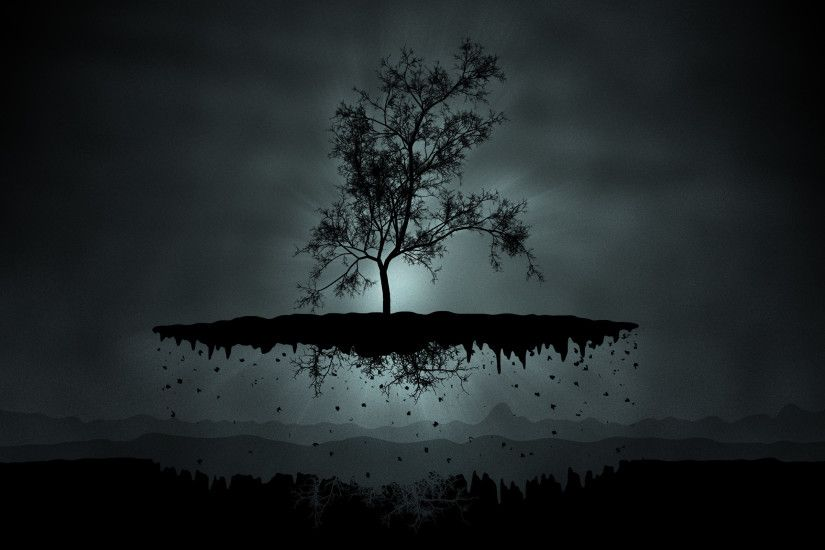 Black tree Cool desktop backgrounds