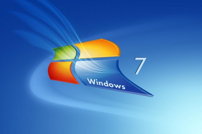 Animated Windows 7 Digital Art Background.