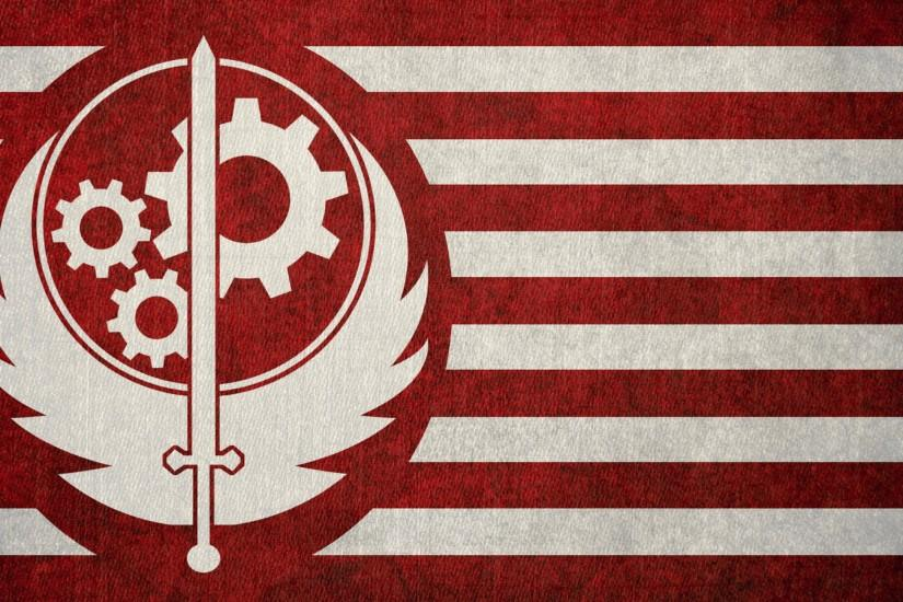 The Brotherhood of steel flag from Fallout 4