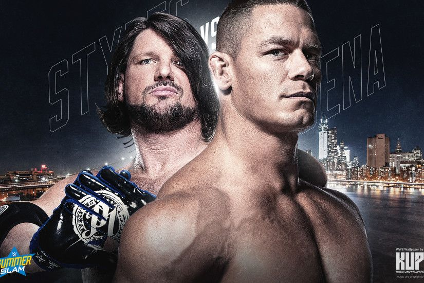 AJ Styles vs. John Cena SummerSlam wallpaper 1920×1200 ...