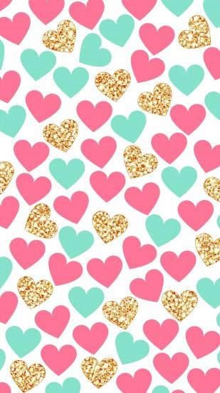 Imagem de wallpaper, heart, and hearts. )
