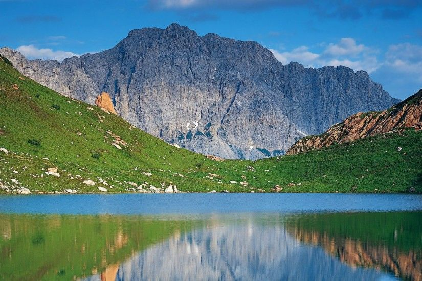 Beautiful Lake Austrian Mountains Austria Mountain Background Wallpapers  Detail