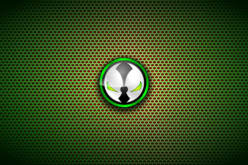 Spawn Logo On Circle Pattern Wallpaper #13071