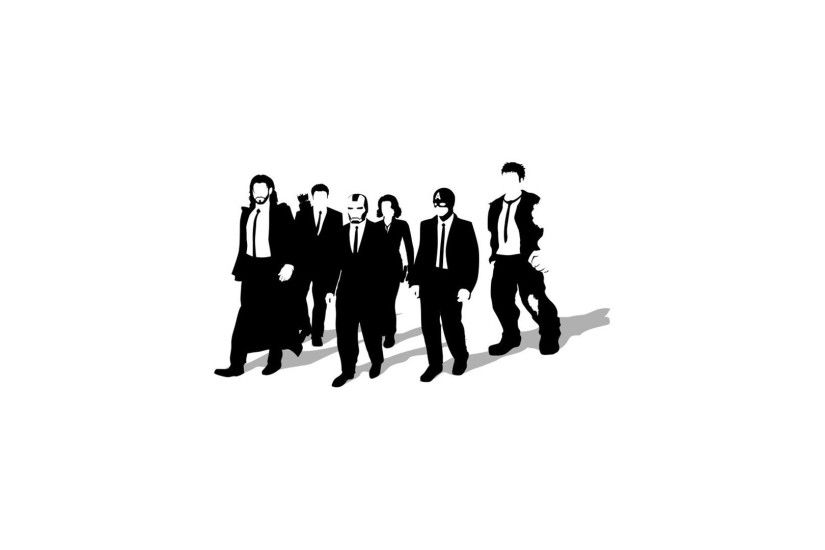 Minimalistic Reservoir Dogs artwork simple background Avengers wallpaper |  1920x1080 | 261655 | WallpaperUP