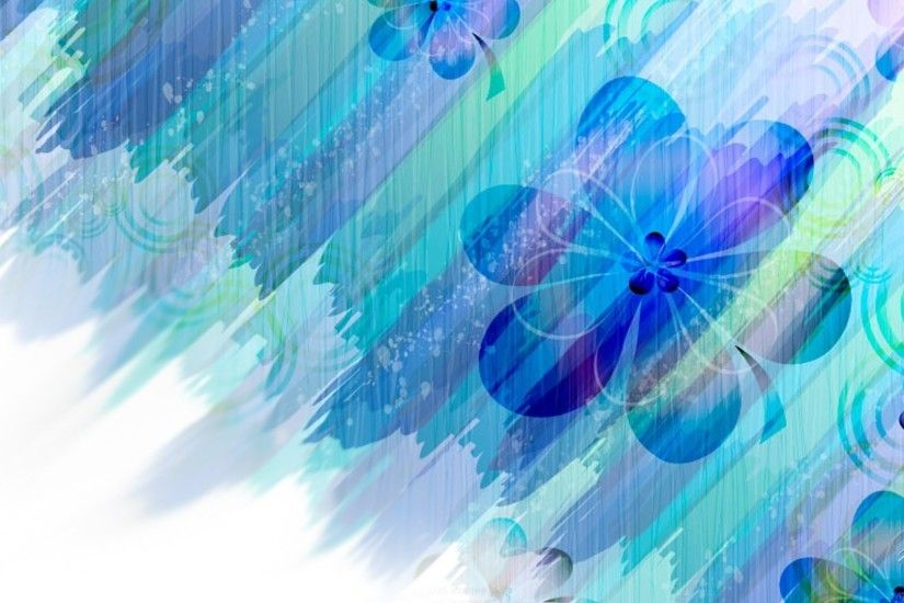 <b>Flower</b>: <b>Flowers Blue Abstract<