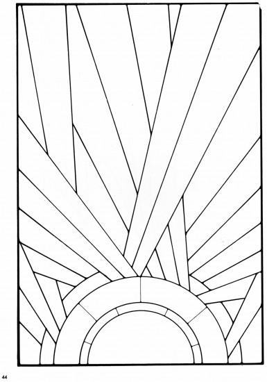 Stained glass pattern from a book of Art Deco Stained Glass Designs. *this  with