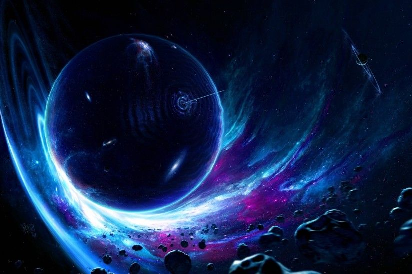 artwork, Digital Art, Planet, Space, Asteroid, Space Art, Wormholes  Wallpapers HD / Desktop and Mobile Backgrounds