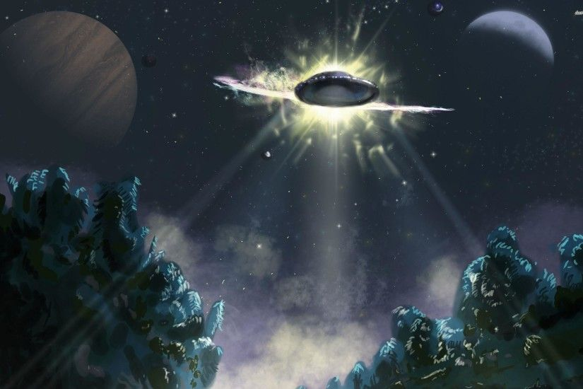 <b>UFO</b> Tree Abduction <b>HD desktop wallpaper