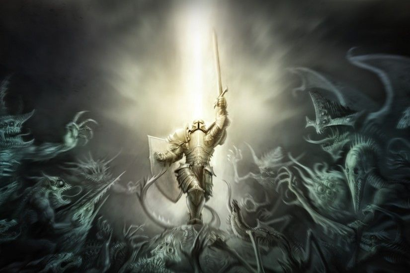 Preview wallpaper diablo 3, crusader, armor 1920x1080
