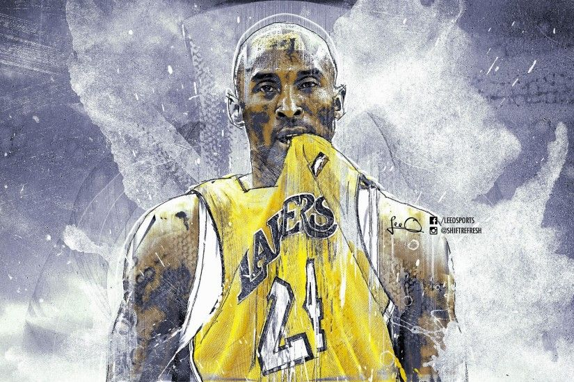 Kobe-Bryant-Lakers-Grunge-Brushes-Wallpapers-HD