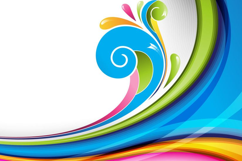 Abstract Lines Colorful Graphics Multicolor