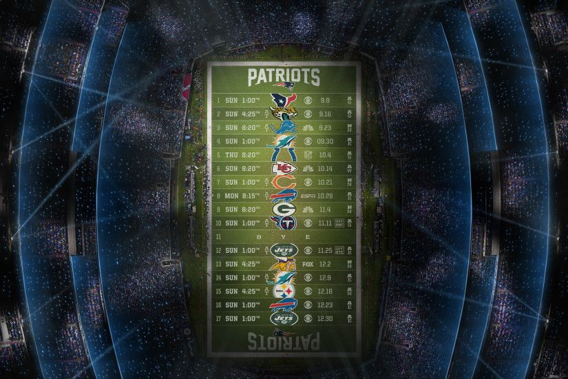 Patriots 2018 Schedule Wallpapers!!