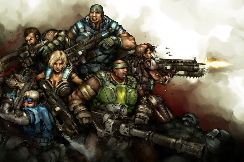 ... Gears of War 3 HD Wallpaper 2560x1440