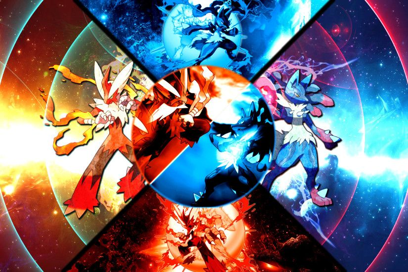 ... Mega Blaziken VS Mega Lucario Wallpaper by FRUITYNITE
