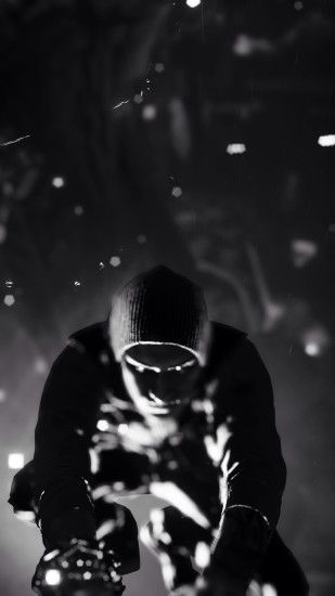 Infamous Second Son Black And White iPhone 6 Plus HD Wallpaper