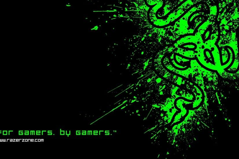 1920x1080 Wallpaper razer, symbol, logo, black