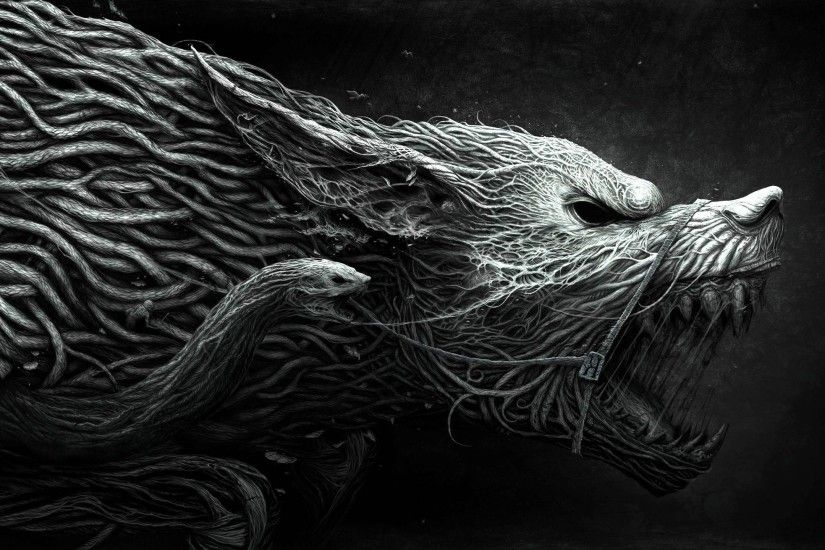fantasy Art, Wolf, Horror, CGI, Roots Wallpapers HD / Desktop and Mobile  Backgrounds