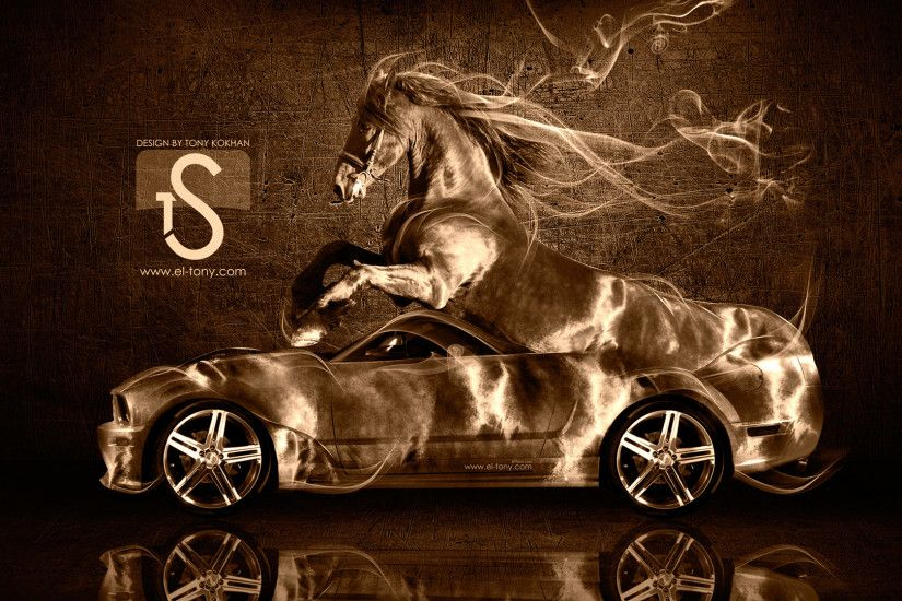 High Quality Merveilleux Ford Mustang GT Fantasy Horse Smoke Car 2014